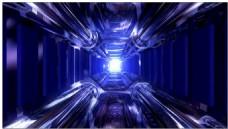 高清蓝色科技隧道视频素材