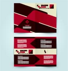 红色几何画册图片