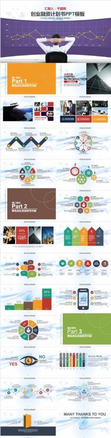 创业融资计划书PPT模板2