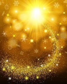 金色阳光粒子