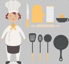 厨房用品厨师免抠png透明图层素材