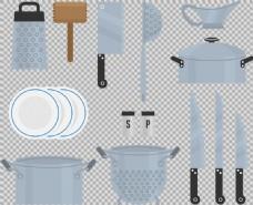 各种厨房用品免抠png透明素材