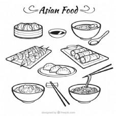 素描bolws亚洲食品