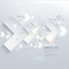 白色装饰未来的想法形状