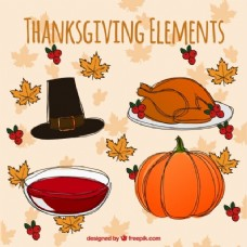 感恩节元素