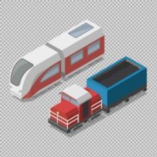 手绘立体火车插图免抠png透明图层素材