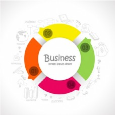 商业图表模板彩色圆形