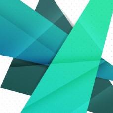 绿色和蓝色几何纸条纹装饰抽象摘要背景。