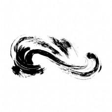水墨流线元素
