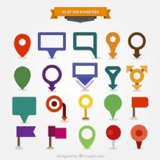 平面设计中的色彩标记集