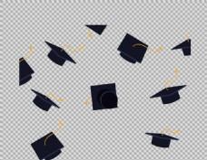 毕业帽子元素免抠png透明图层素材