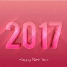 粉红色调的新年背景