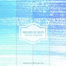 水彩色调的蓝色背景