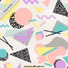 平面几何图形背景