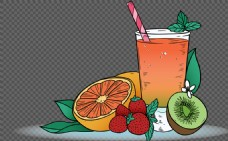 手绘风格水果插画免抠png透明图层素材