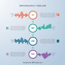 不同颜色的图形,图表和时间表