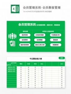 会员管理系统-报表分析明细Excel文档