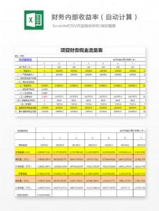 财务内部收益率Excel文档