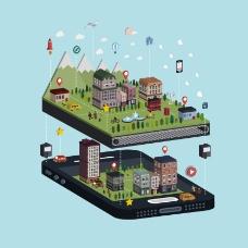 绿色城市规划场景