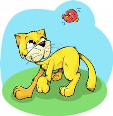卡通猫咪宠物素材设计