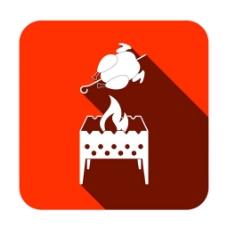 烤鸡图标图片
