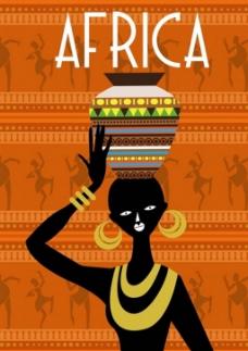 非洲部落人类舞蹈背景图