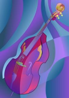 吉他音乐蓝色背景