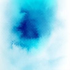 蓝色水彩背景与污点