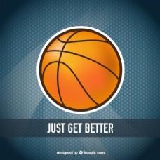 篮球贴纸背景