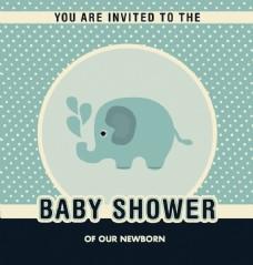 婴儿洗澡邀请设计