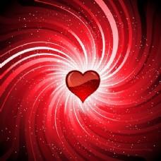 红色背景与情人节情人节