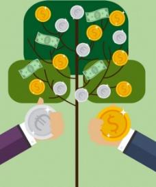 商业金钱背景图