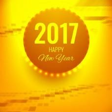 新年的黄色背景
