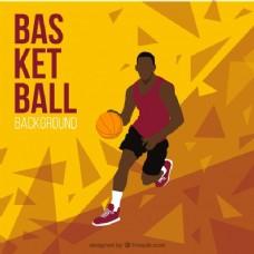 篮球运动员的背景