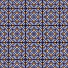 圆形和方形的蓝色几何背景