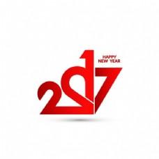 红色数字新年背景