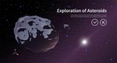 宇宙中的陨石图片