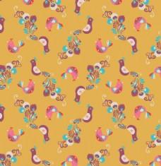 小鸟动物图案矢量素材