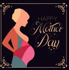 母亲节孕妇背景图