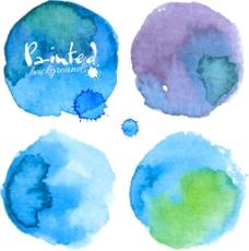 蓝色水墨图片