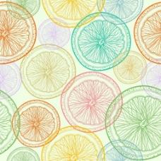 彩色柠檬背景图