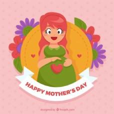 母亲节背景与孕妇