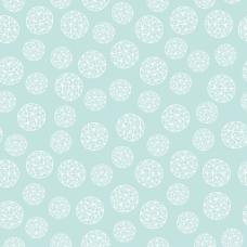 白色花卉装饰图案浅蓝色背景
