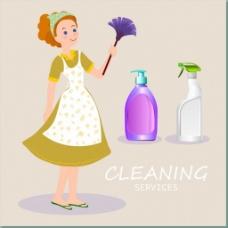 清洁卫生的妇女