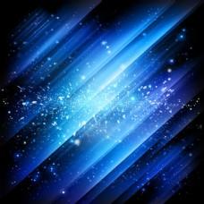 蓝色炫光炫酷黑色光效科技大气美妆主图背景