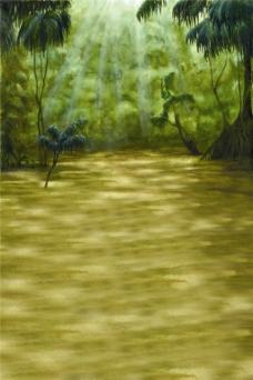 树林小路H5背景