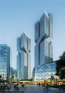时尚商业中心高楼大厦设计图