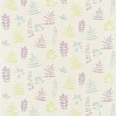 素色花草布艺壁纸图片
