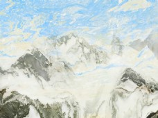 大理石山水装饰画背景墙