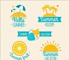 夏天的贴纸